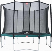 BERG trampolin Favorit green 380 + Safety net Comfort