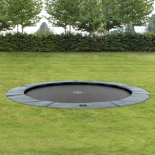 supreme ground level trampolin 305 grey. Black Bedroom Furniture Sets. Home Design Ideas